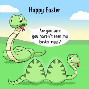 CS10  Funny Card For Easter Cheeky Snake